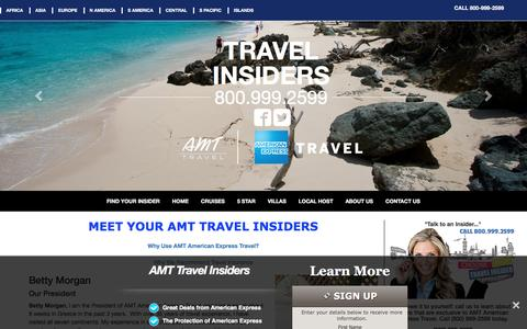 Screenshot of About Page amt-travel-insiders.com - Learn About AMT American Express Travel Insiders - captured April 3, 2016