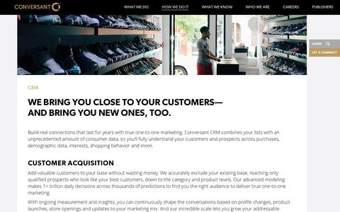 Customer Relationship Management | CRM Solution | Conversant