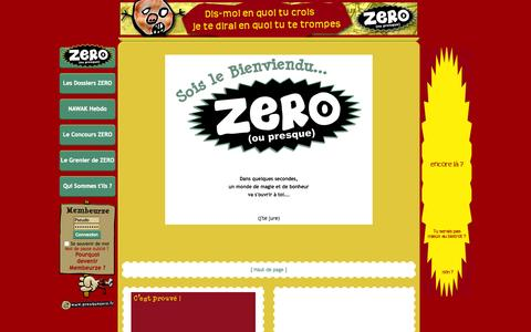 Screenshot of presquezero.fr - .::ZERO (ou presque) Le Trčs Super Site Web Trčs Super Gratos Trčs Super Inutile::ZERO (ou presque) Le Trčs Super Site Web Trčs Super Gratos Trčs Super Inutile - captured Oct. 17, 2015