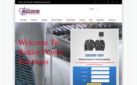 Screenshot of Home Page motors-drives.com - ABB & Baldor Motors & Drives in Wisconsin & Upper Michigan Peninsula - captured Oct. 5, 2014