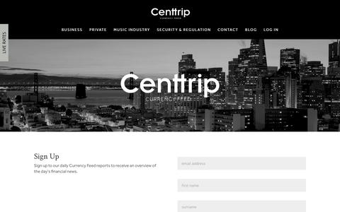 Screenshot of Signup Page centtrip.com - Sign Up | Centtrip - captured May 15, 2017