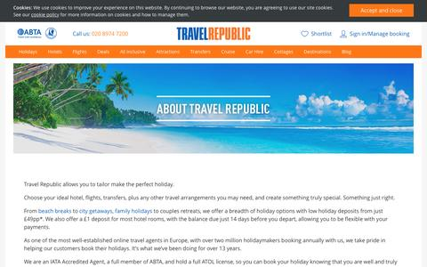 Screenshot of About Page travelrepublic.co.uk - About Travel Republic - captured March 11, 2017