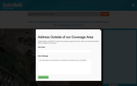 "Screenshot of Maps & Directions Page underbuilt.com - UnderBuiltâ""¢   Build it Bigger - captured Dec. 6, 2016"
