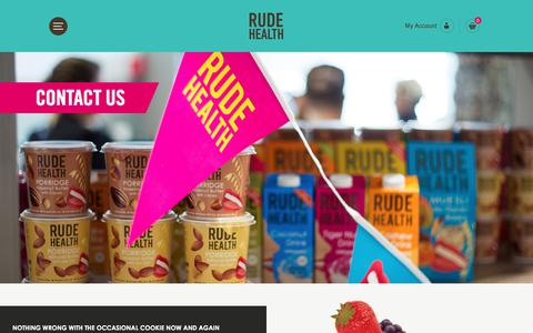 Screenshot of Contact Page rudehealth.com - Want to find out more? Want to be rude (or nice) to us? Contact Us - captured Sept. 21, 2018