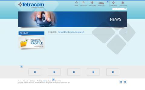 Screenshot of Press Page tetracom.com.lb - Tetracom s.a.l - News - captured Oct. 6, 2014