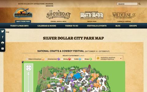 Screenshot of Maps & Directions Page silverdollarcity.com - Theme Park Map | Silver Dollar City | Explore The Park - captured Sept. 24, 2018