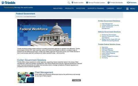 Trimble - U.S. Federal Government