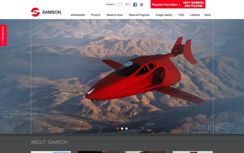 Screenshot of Home Page Privacy Page samsonmotorworks.com - Flying cars and flying motorcycles of the future with Samson Motor Works - captured Sept. 30, 2014
