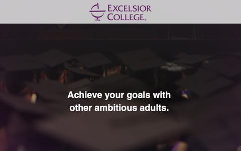 Screenshot of Landing Page excelsior.edu - Excelsior College - captured May 10, 2018