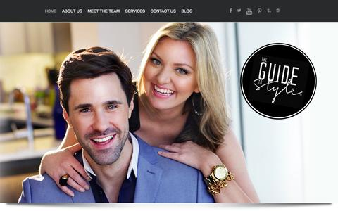 Screenshot of Home Page theguidetostyle.com - The Guide to Style - captured Sept. 30, 2014