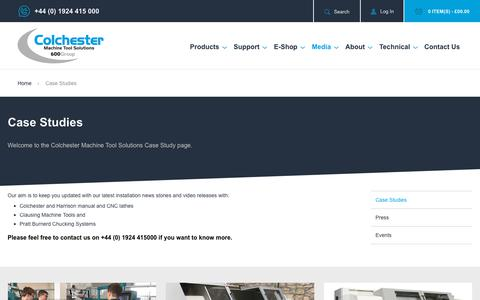 Screenshot of Case Studies Page colchester.co.uk - Colchester Machine Tool Solutions Case Studies - Colchester Machine Tool Solutions - captured Oct. 20, 2018