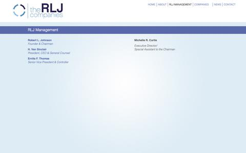 Screenshot of Team Page rljcompanies.com - RLJ Companies  » RLJ Management - captured Oct. 19, 2018