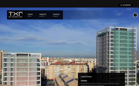 Screenshot of Home Page txfproyectos.com - TxfProyectos - captured Sept. 30, 2014