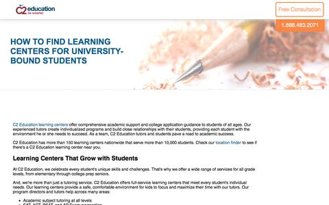 Screenshot of c2educate.com - How to Find Learning Centers for University-Bound Students - captured June 6, 2017