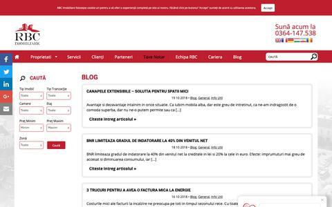 Screenshot of Blog rbcimobiliare.ro - Blog - RBC Imobiliare Archive - captured Oct. 19, 2018