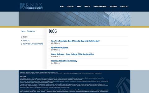Screenshot of Blog knoxcapitalgroup.com - Blog   Knox Capital - captured Jan. 9, 2016