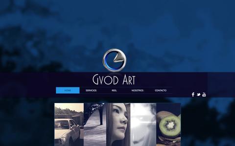Screenshot of Home Page gvodart.org - Gvod Art - productora de cine - captured Sept. 30, 2014