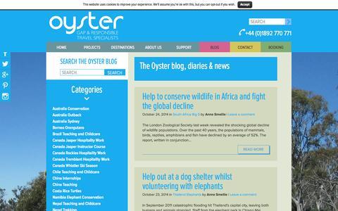 Screenshot of Press Page oysterworldwide.com - Blog Archive - Oyster Worldwide - captured Oct. 26, 2014