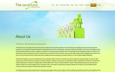 Screenshot of About Page theseedfund.vc - About Us | The Seed Fund - captured Oct. 9, 2014