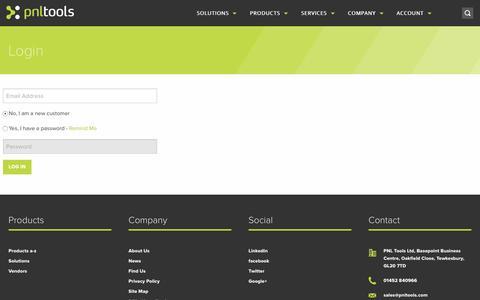 Screenshot of Login Page pnltools.com - Login | PNL Tools Ltd - captured Jan. 24, 2016