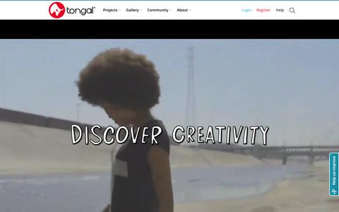 Screenshot of Home Page tongal.com - Create Original Video Content - TV Ads, YouTube, Branded & Social Videos - captured Jan. 28, 2016