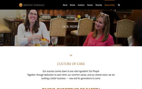 Screenshot of Team Page brown-forman.com - Brown-Forman – Our People - captured July 28, 2017