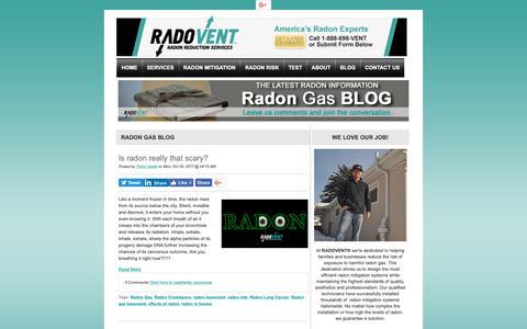 Screenshot of Blog radovent.com - Blog - captured Oct. 19, 2018