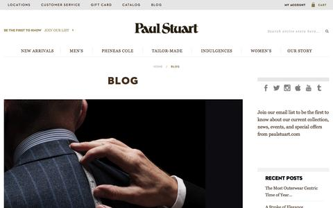 Screenshot of Blog paulstuart.com - Blog   Paul Stuart - captured Nov. 17, 2015