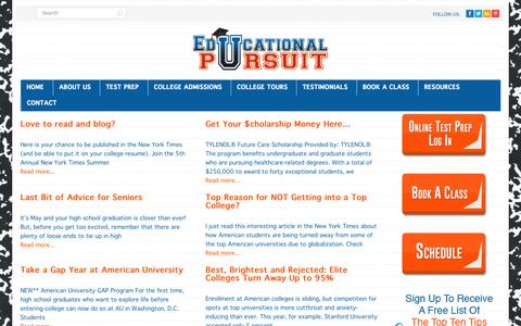 Screenshot of Blog educationalpursuit.net - Educational Pursuit Blog - Educational Pursuit - captured Sept. 29, 2014