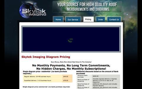 Screenshot of Pricing Page skytekimaging.com - Skytek Imaging Pricing | skytek - captured Sept. 30, 2014