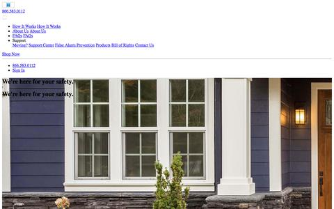 Screenshot of About Page brinkshome.com - About Us | Brinks Home Security - captured July 12, 2018