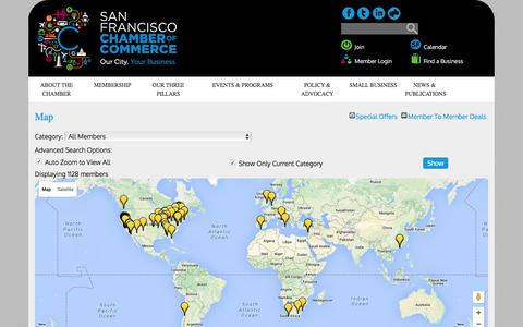 Screenshot of Maps & Directions Page sfchamber.com - Map - The San Francisco Chamber of Commerce - captured Feb. 3, 2016