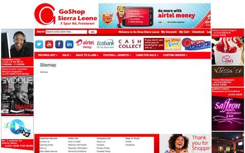Screenshot of Site Map Page goshopsl.com - Sitemap - captured Oct. 2, 2014