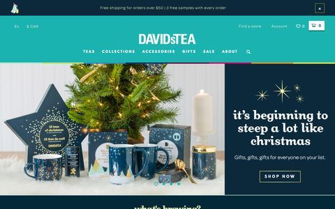 Screenshot of Home Page davidstea.com - DAVIDsTEA - Buy Loose Leaf Tea Online - captured Nov. 10, 2015