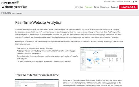 Real Time Website Traffic and Visitor Analysis | Free Web Analytics Solutions