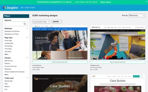 Screenshot of Case Studies Page crayon.co - Case Studies Pages | Website Inspiration and Examples | Crayon - captured April 25, 2019