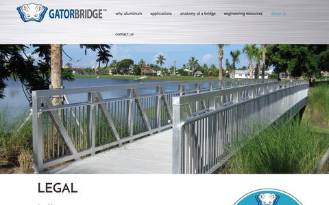 Screenshot of Terms Page gatorbridge.com - GatorBridge Copyright & Legal Information - captured Oct. 2, 2014