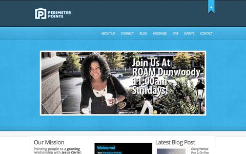Screenshot of Home Page perimeterpointe.org - Perimeter Pointe Church | Pointing people to a growing relationship with Jesus Christ - captured Jan. 27, 2016