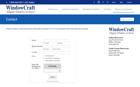 Screenshot of Contact Page Maps & Directions Page windowcraft.biz - Contact WindowCraft | WindowCraft - captured Jan. 25, 2017