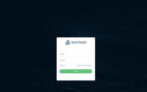 Screenshot of Signup Page Login Page bleutrade.com - Bleutrade - captured Nov. 6, 2018