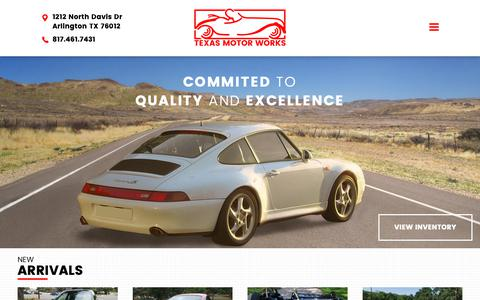 Screenshot of Home Page texasmotorworks7.com - Texas Motor Works - captured Oct. 18, 2018