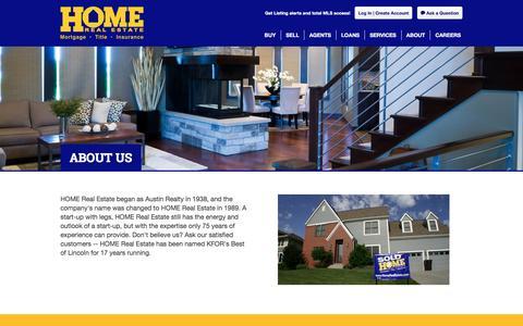 Screenshot of About Page homerealestate.com - About   Lincoln, NE Real Estate Company   Home Real Estate - captured July 16, 2016
