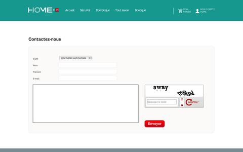 Screenshot of Contact Page FAQ Page sfr.fr - Contactez-nous - La boutique Home by SFR - captured Oct. 25, 2014