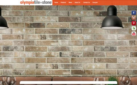 Screenshot of Home Page olympiatile.com - Front page   Olympia Tile - captured Aug. 30, 2016