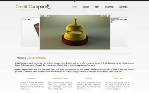Screenshot of Home Page creditcompare.co.za - Credit Compare | Flight Hotels Car Hire | Free Templates - creditcompare.co.za - captured Sept. 30, 2014