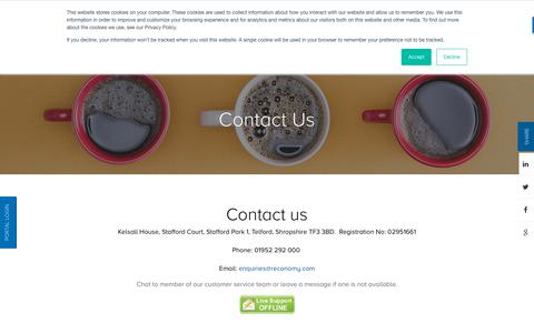 Screenshot of Contact Page reconomy.com - Contact page | National Skip Hire & Skip Rentals | Reconomy - captured Sept. 21, 2019