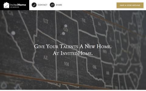 Screenshot of Jobs Page invitedhome.com - Work at InvitedHome Đ Jobs | InvitedHome - captured Nov. 17, 2015