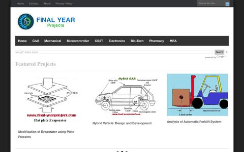 Screenshot of Home Page final-yearproject.com - FREE FINAL YEAR PROJECT'S - captured Jan. 16, 2016