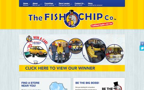 Screenshot of Home Page fishandchipco.co.za - Welcome to The Fish & Chip Co - captured Oct. 10, 2015
