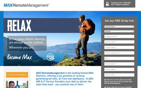 Screenshot of Landing Page maxfocus.com - RELAX - captured Feb. 23, 2016